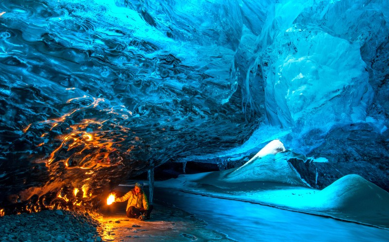 The incredible stunning ice caves