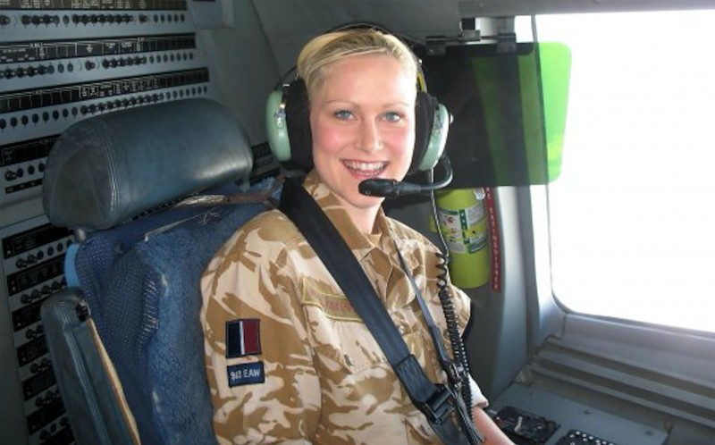 Jesse during her tour in Iraq