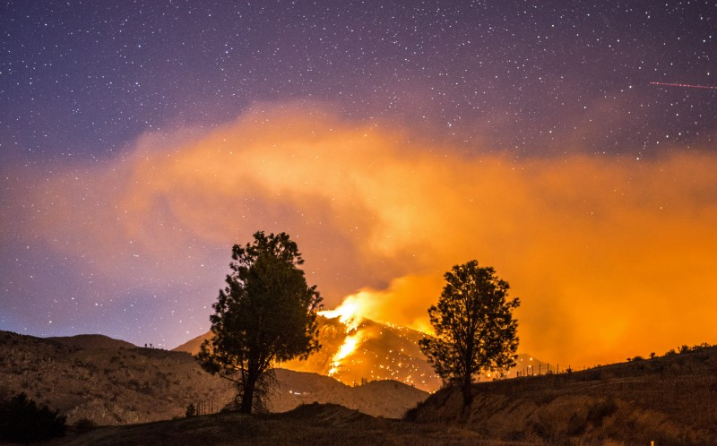 Meadow Fire, Lake Isabella, California