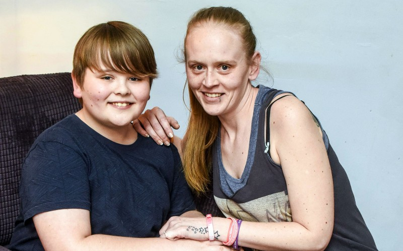 Billy Turner, 11 with his mother mum Louise Blackshaw, 32