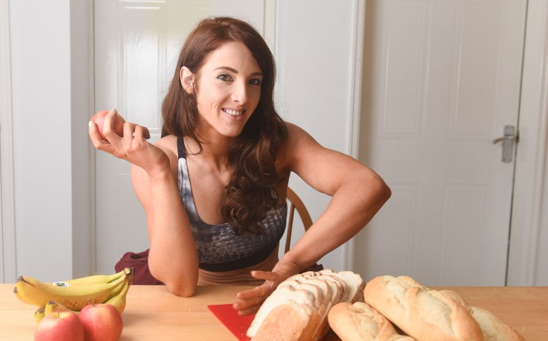 LAUREN LEVINE, 23, WHO HAS SWAPPED EATING BREAD FOR HEALTHIER FOODS