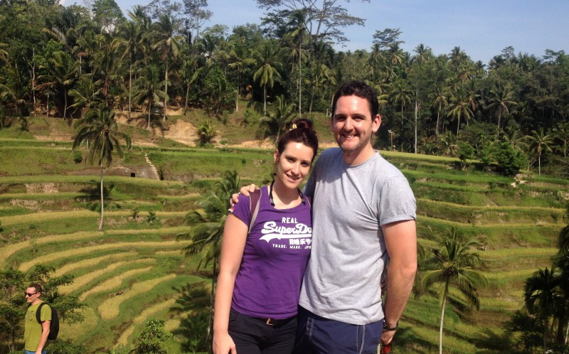 Adam and Jodie in Bali
