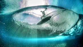 Image taken from below the surf