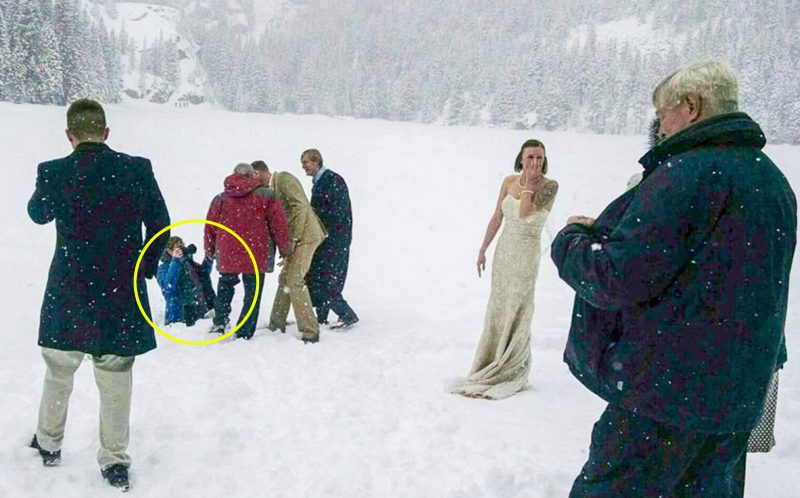 chilly reception wedding photographer gets shock after falling