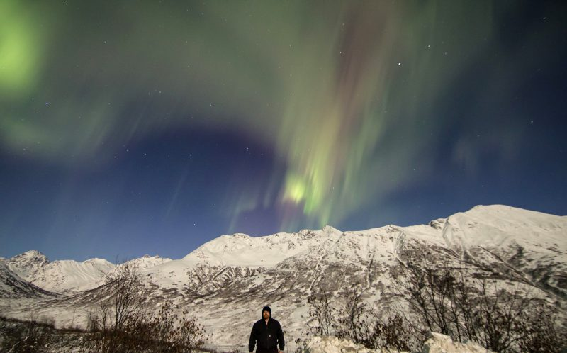 The Northern Lights in the Alaskan sky