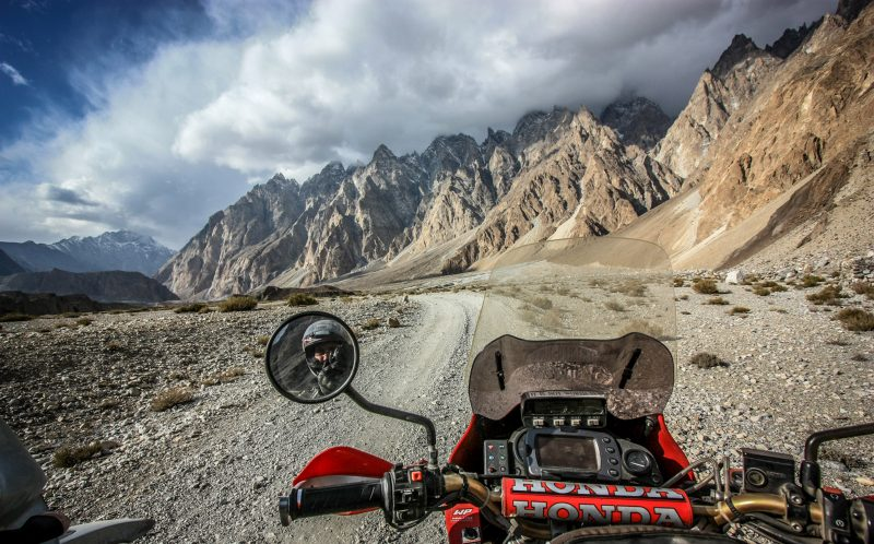 The view from the saddle, near the hamlet of Pasu, Karakoran, North West Frontier Province, Pakistan Oct 2009)
