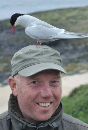 HILARY ATKINS/MERCURY PRESS : One landed on his head appeared to join in the twitching in Farne Islands, off the Northumberland coast.
