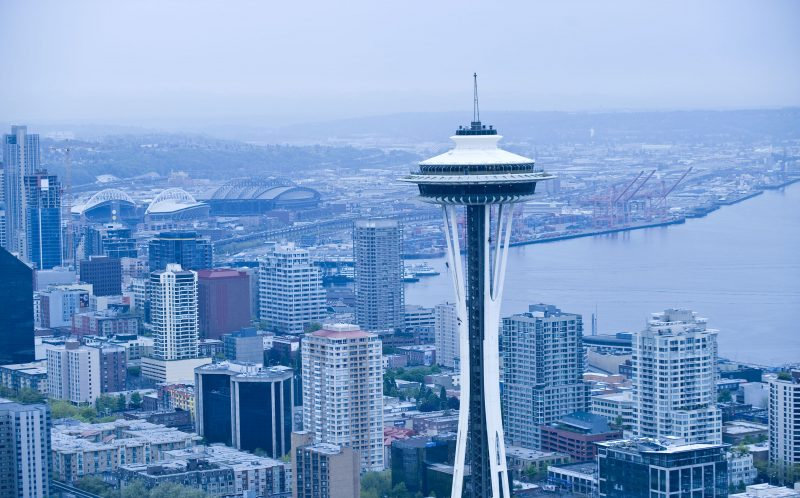 PIC FROM CATERS NEWS - The Space Needle in Seattle.