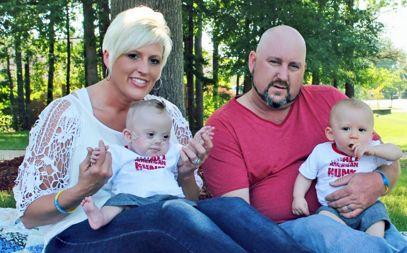 PIC BY CATERS NEWS - Brandy Gregware with her husband Tobby and their twins Kolbie and Kash in Atlanta.