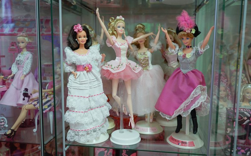 PIC BY CONNOR MURPHY/CATERS NEWS - (PICTURED: Some of Azusa Sakamotos collection on show.) - Barbies biggest fan has splashed out 55k on her obsession despite being 34 years old. Self-confessed Barbie fanatic, Azusa Sakamoto, from Los Angeles, has forked out 55,000 on her obsession. The nail artist, originally from Japan, fell in love with Barbie after she bought her first Barbie lunchbox when she was just 15. Over the past 20 years, Azusas love for Barbie has spiralled out of control and now everything she owns is Barbie. The huge collection includes 145 dolls, 40 pairs of shoes and 60 bags, and Azusa has spent thousands on Barbie conventions, home furnishings and accessories too. Azusa, who recently dyed her hair pink and goes by the name Azusa Barbie, insists shes not trying to be the doll but simply loves the brand. - SEE CATERS COPY