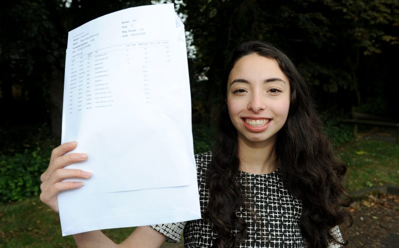 PIC BY KORAY EROL/ CATERS NEWS - (PICTURED: Masa Shannout with her a level results) - Talk about seeing double! These identical twins have got incredible identical A Level results and now theyre off to the same uni to do IDENTICAL courses. Masa and Aya Shannout, both 18, were over-the-moon with their amazing matching results with both of them getting an A in maths and A* in biology and chemistry at Camp Hill Girls School, in Birmingham, West Mids. Now the undistinguishable due are both off to University of Birmingham in September to study dentistry. SEE CATERS COPY.