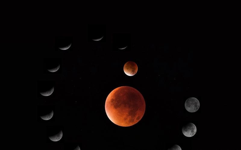 PIC BY ROGER HUTCHINSON/MEDIA DRUM WORLD/CATERS NEWS - PICTURED: Lunar Eclipse circular composite. LONDON, UK: DEFYING the light pollution of our capital city these stunning images of outer space have been taken by an amateur astronomer from his back garden in West London. Rivalling images taken by multimillion dollar spacecraft, the spectacular shots show incredible close-ups of the moon including the Apollo 15 landing site, Jupiter and Mercury. Other pictures show the International Space Station passing over London, a comet whizzing by and the moon rising high into the night sky. The awesome array of photos were taken by IT solutions architect and amateur astronomer Roger Hutchinson (49) from London. The married father-of-two captured the images from the modest observatory he has constructed with his own hands in the back garden of his home. SEE CATERS COPY.