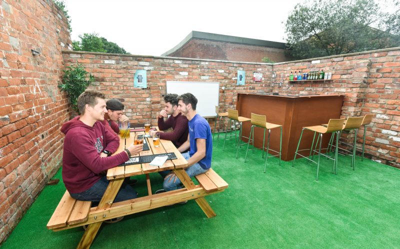 Student Transforms Back Yard Into Epic Beer Garden