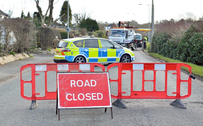 PIC FROM EXPRESS AND STAR/CATERS NEWS - (PICTURED: The road where the car crash occurred.) - Paramedics feared a student who was millimetres from death had been DECAPITATED after a terrifying car crash. Bekkie Payne, from Wombourne, Staffordshire, is still on morphine 18 months on from the horror smash which put her in hospital for seven weeks. Bekkie, 23, was driving round a roundabout when her car clipped the kerb, sending her Fiat Punto crashing through a wooden fence into a ditch where it then set on fire. A fence panel severed her neck after coming through the windscreen and was just millimetres from a vital artery, with paramedics worrying she had been decapitated. The life-changing accident also left the criminology student with a brain injury, a paralysed left arm, a fractured collarbone, a chipped spine and heavy bruising to her face. SEE CATERS COPY.
