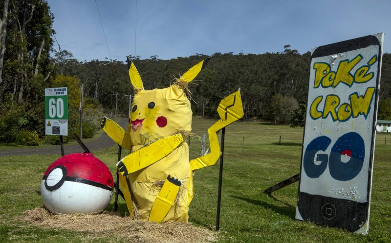 Pic from Noel Fisher/ Caters News - If there was a straw poll for the worlds best scarecrow competition this Aussie community might win it. The Central Coast region, in New South Wales, Australia, has been staging a bizarre homage to all things scarecrow since 2008 with enthusiastic locals all joining in to be voted best in scare-show.And this year certainly doesnt disappoint with celebrities like larger derriered Kim Kardashian making an appearance as well as the boy wizard Harry Potter under a new name Scary Potter. Other favourites this year in the competition - which is part of the Yarramalong Valley Spring Festival - are the Wizard of Aus and Star Trek characters Jim Kirk and Spock. SEE CATERS COPY