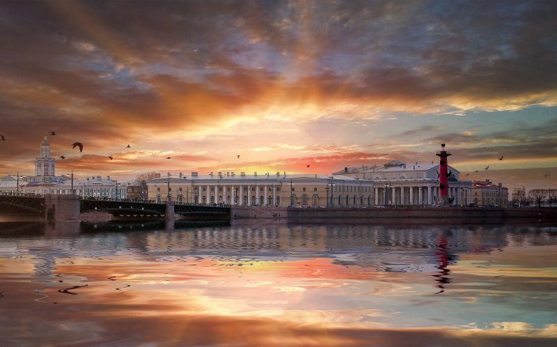 PIC BY ANDREI MIKHAILOV/ CATERS NEWS - The Harbour- A beautiful cityscape of Saint Petersburg, Russia.