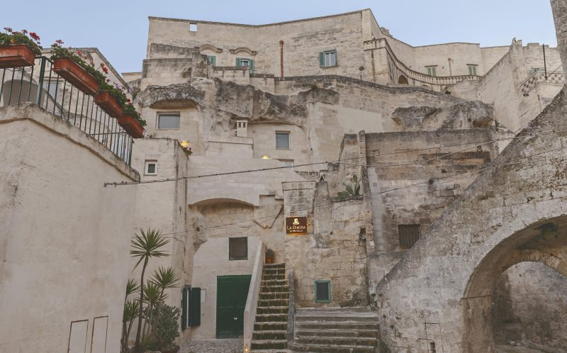 *** MANDATORY BYLINE PIC BY PIERANGELO LATERZA/ CATERS NEWS - (PICTURED: The exterior of the Metellus Dimora hotel) - SURPRISE! This modern cave hotel will have you booking the next flight to Bari, Italy for a luxury stay in the last place you would expect.. Photographer, Pierangelo Laterza, 35 from Matera, Basilicata, Italy took his camera inside the hidden Metellus Dimora hotel- revealing a jewel in the rocks. The hotel lies in the ancient Materas Sassi district, an age-old human settlement which was declared a World Heritage Site by UNESCO in 1993. Pierangelo said: When I entered for the first time it was impressive; I did not expect so much modernity in an area built so long ago. The linearity of the furnishings, the soft colours and clean lines greet you immediately, it seems that inside you continue to breathe the same air of the exterior, the same sense of wonder and beauty. SEE CATERS COPY.