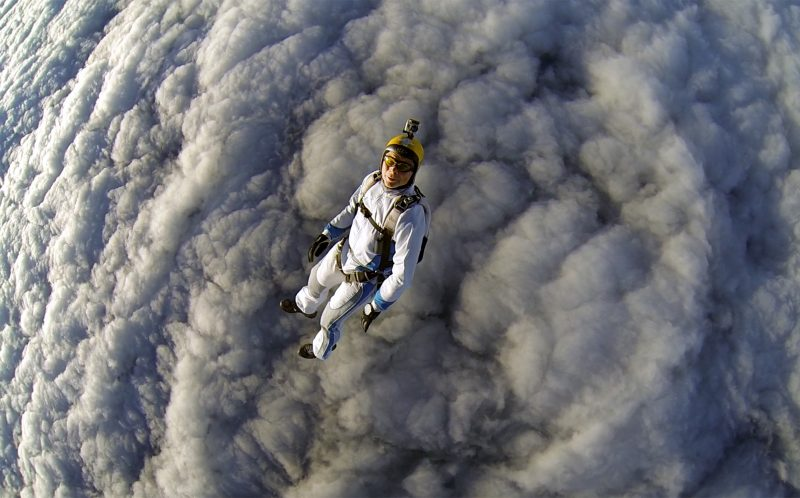 Skydive into cotton wool