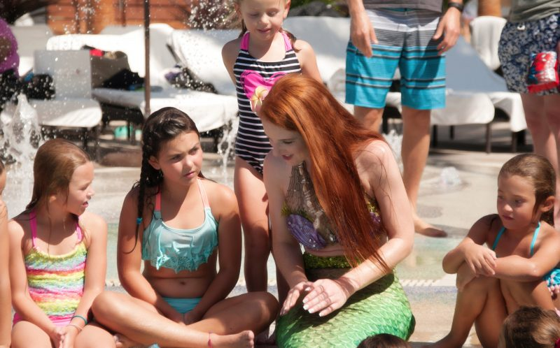 PIC FROM CATERS NEWS - Mermaids are taught to go up to 45 feet underwater and work with shipwrecks and animals.