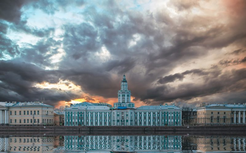 PIC BY ANDREI MIKHAILOV/ CATERS NEWS - The Kunstkamera- A beautiful cityscape of Saint Petersburg, Russia.