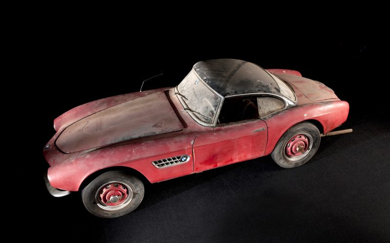 PIC FROM BMW/CATERS NEWS - The BMW 507 before it was restored.