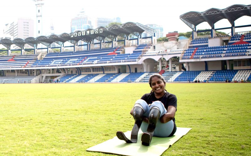 PIC FROM CATERS NEWS - Shalini Saraswathi, 37 in her blades.