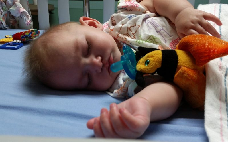 PICS BY NIKI SAUER / CATERS NEWS - Here is Aubrey before having surgery in July.