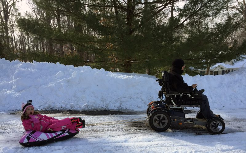 Paraplegic dad turns real life wheelchair adventures with six year
