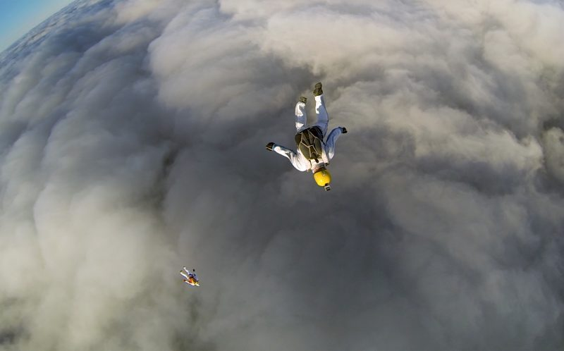 PIC BY GLEB VOREVODIN/ CATERS NEWS - Gleb Vorevodin looking into the fluffy clouds.
