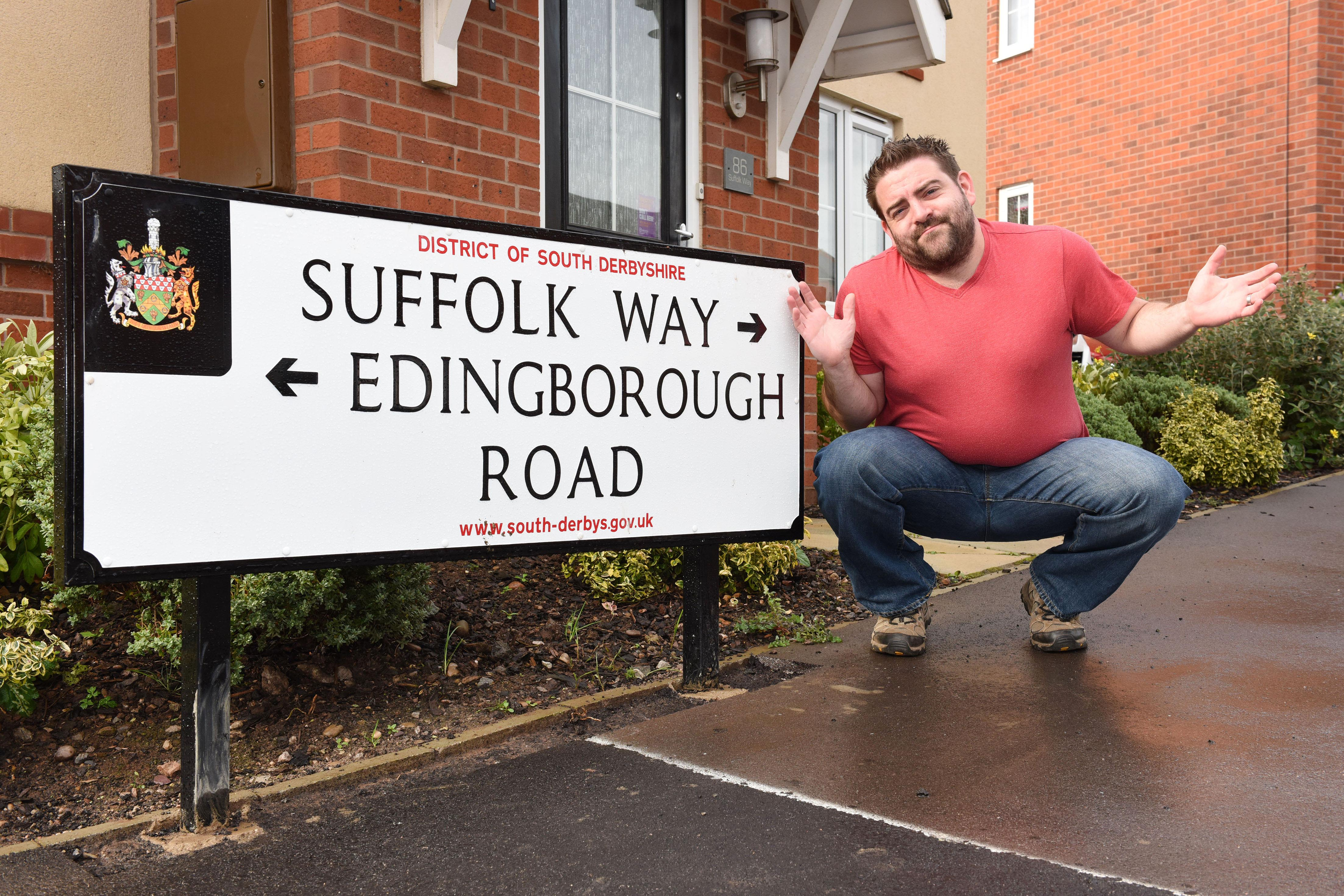 Bizarre Spelling Of Road Sign Leaves Developers Red Faced
