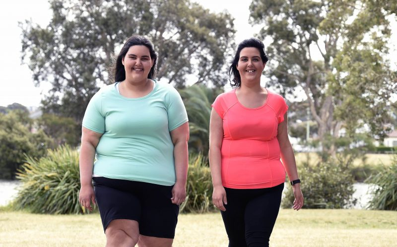 Pic from Caters News - (Pictured left to right: Annabelle and Anastasia) Two morbidly obese sisters have lost a staggering 162KGS in the last year after making a slimming pact together, and incredibly theyre STILL SHRINKING.Annabelle Chiarello, 16, and her sister Anastasia, 24 from Montaray, NSW, both battled with the bulge their entire lives, with the teenager wearing 7XL shirts at her heaviest and her sister squeezing into a size 26. The incredibly close siblings grew up gorging on giant triple portions of pasta and bread, causing their waistlines to stretch to huge proportions. At just 13, Belle tipped the scales at an eye-watering 248kilos, and doctors warned she needed to lose weight or die, and recommended having a gastric sleeve (VSG) fitted. SEE CATERS COPY