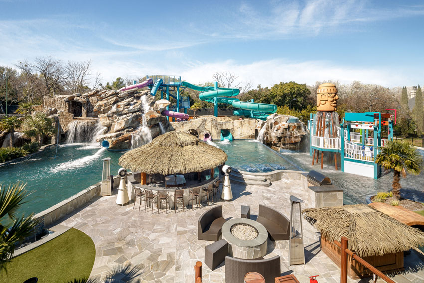 own backyard water park a decadent mansion with a huge water park