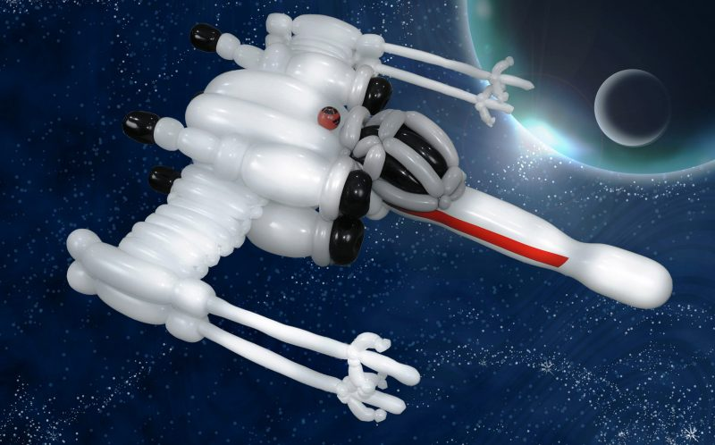 PIC FROM CATERS NEWS - An X-wing fighter of Star Wars.