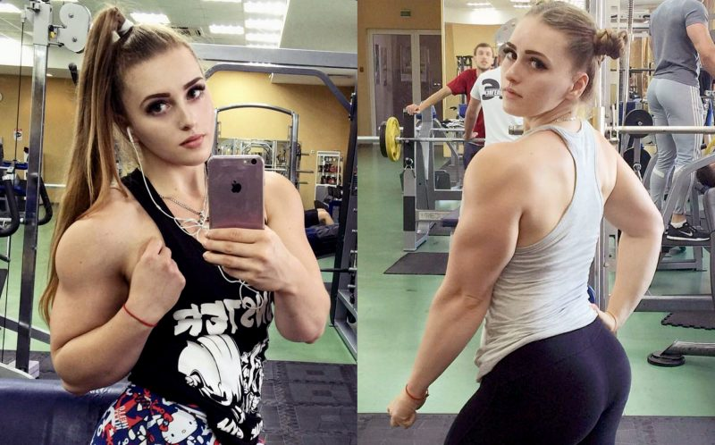 PIC FROM CATERS NEWS -  Instagram fitness star, Julia Vins from Engels in the Saratov region of Russia.