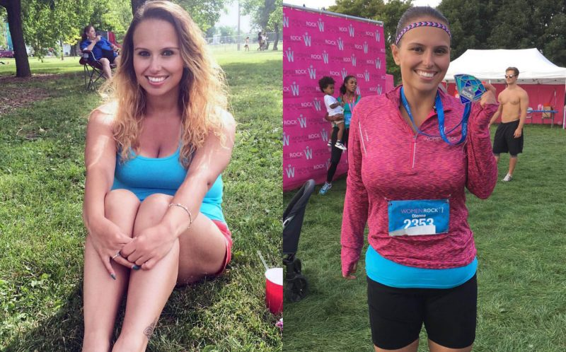 PIC BY DIONNE GOMEZ / CATERS NEWS - In just 12 months, the brunette lost a staggering 130lbs.