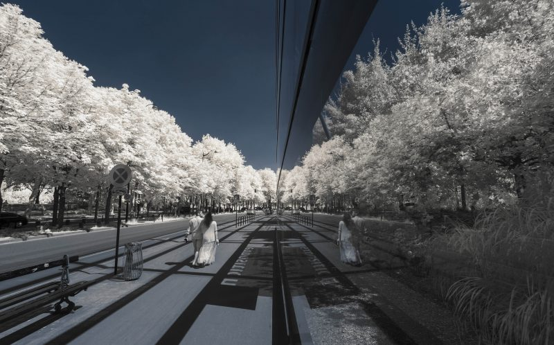 PIC BY PIERRE-LOUIS FERRER/MERCURY PRESS (PICTURED: QUAI BRANLY MUSEUM IN PARS TAKEN USING AN INFRA RED CAMERA) Paris is usually recognised by its bright lights, historic monuments and world-class cuisine, but a French photographer has captured the city from a different all-white perspective.   Pierre-Louis Ferrer, from Paris, has snapped iconic landmarks including the Eiffel Tower, Notre-Dame and Sacr Coeur and produced breathtaking shots using infrared photography. Although digital cameras are naturally able to record infrared and UV light, they are stopped from doing this by a hot mirror filter which transforms it into a normal picture. By removing this filter and using a special infrared filter Pierre-Louis can capture his surroundings in glorious shades of white that would otherwise be invisible to the naked eye. SEE MERCURY COPY