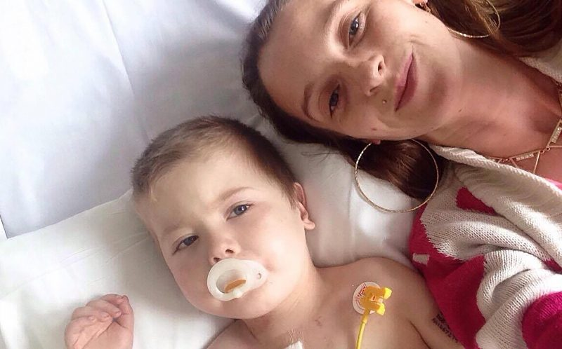 PIC FROM MERCURY PRESS - Mum Charmaine Oartes, 27, said she would never regret defying doctors orders and keeping her little boy Romeo Weiss, 4.