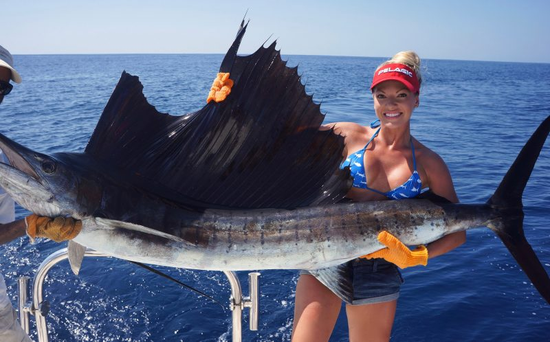 PIC BY MICHELLE CLAVETTE / CATERS NEWS - (PICTURED: Female angler Michelle Clavette.) - A female angler has netted 72,000 online fans with her sizzling fishing snaps. Blonde beauty, Michelle Clavatte has hooked a sea of admirers with pictures of her reeling in deep sea monsters while wearing nothing but a bikini. Not your typical angler, tanned and toned Michelle, 27, is redefining the sport with her pictures of wrestling giant fish aboard her boat in Florida. A trained hair colourist, Michelle fishes in her spare time having first been taught to fish by her father when she was just 6 years old. - SEE CATERS COPY