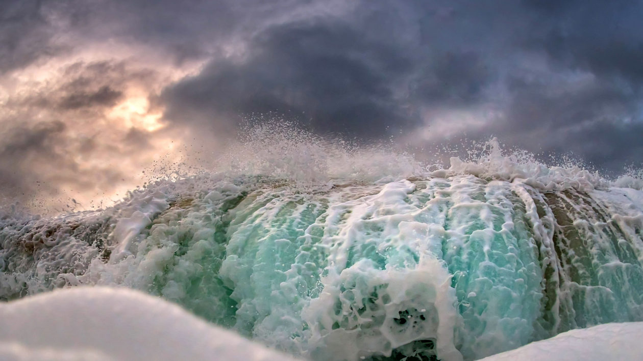 Stunning Photos Show Stormy Waves Up Close Caters News