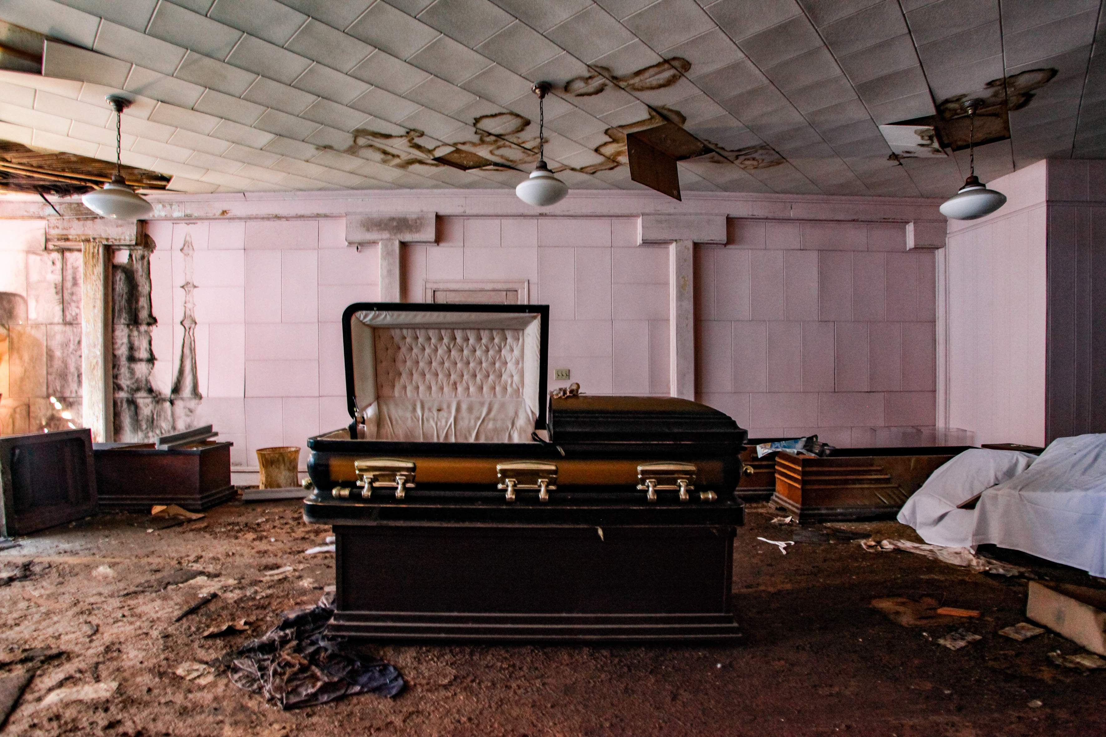 Death trap abandoned funeral home that's over 150-years-old