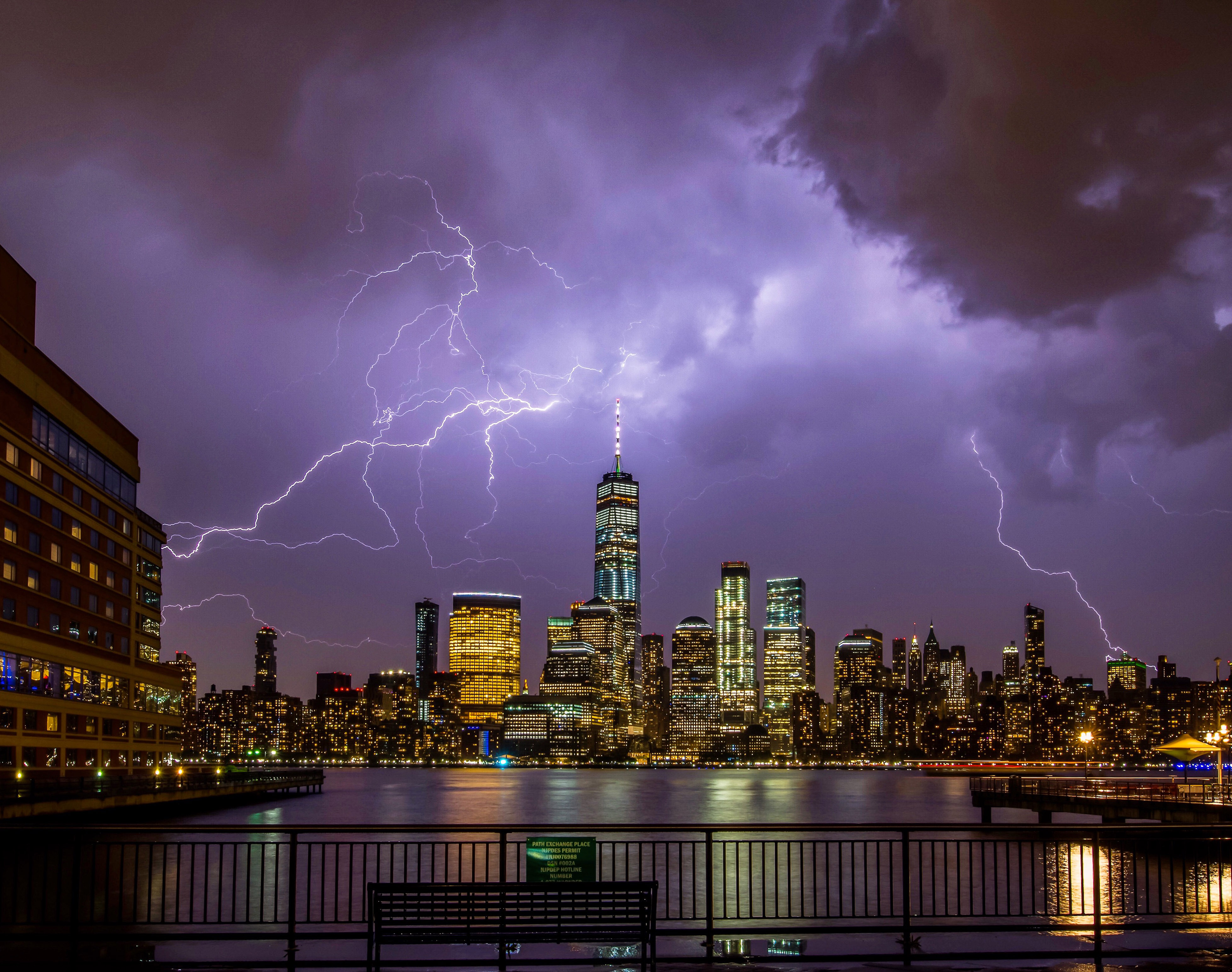 Thunderbolts and lightning!! Spectacular timing as