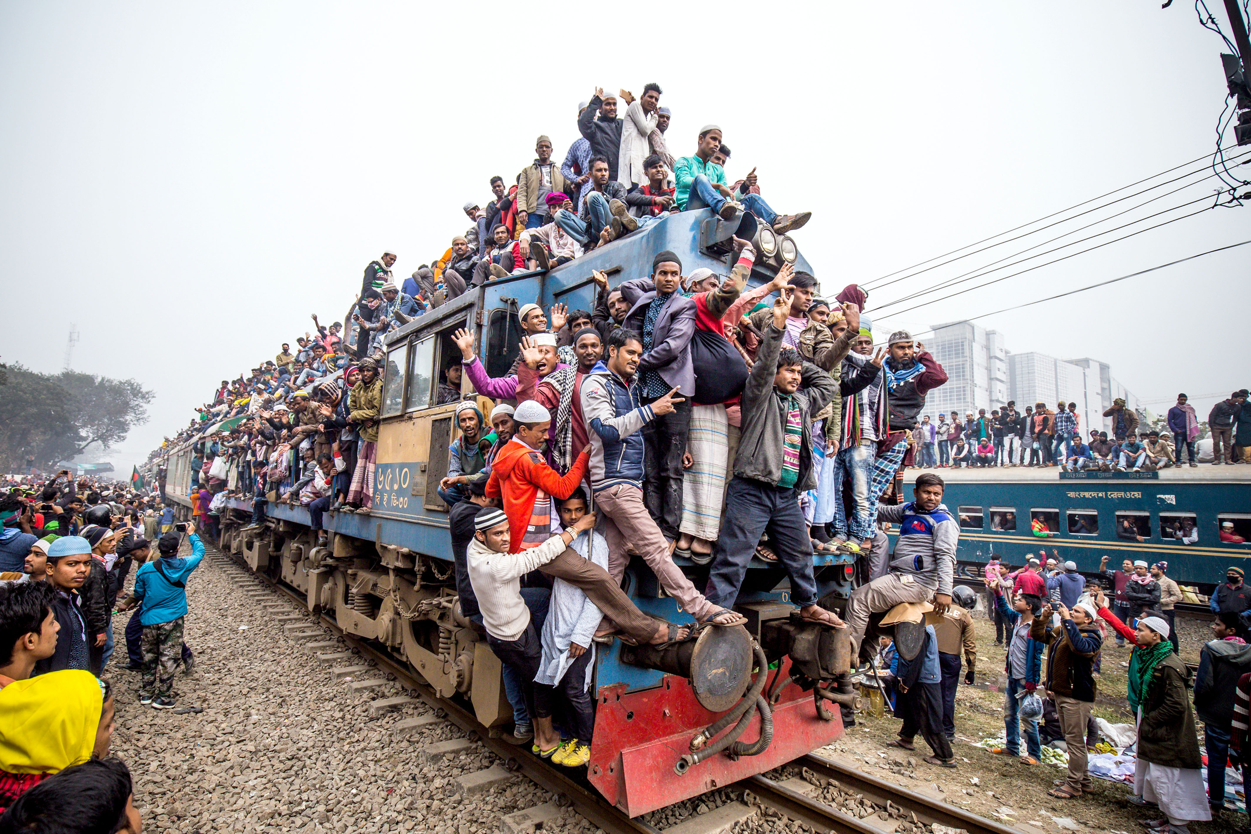 Jumping On The Bandwagon Commuters Take The Rush Hour